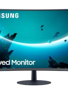 "SAMSUNG LC27T550FDUXEN Full HD 27"" Curved LED Monitor - Grey"