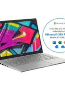 "Asus VivoBook S413FA 14"" Laptop Includes Microsoft 365 Personal 12-month subscription with 1TB Cloud Storage - Silver"