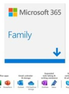 Microsoft 365 Family Digital Download 6 Users - Annual Subscription