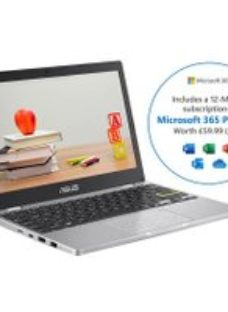 """Asus E210MA 11.6"""" Includes Microsoft 365 Personal 12-month subscription with 1TB Cloud Storage Laptop - White"""
