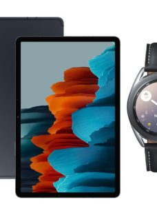 "SAMSUNG Galaxy Tab S7 11"" Tablet & Silver Galaxy Watch3 Bundle"