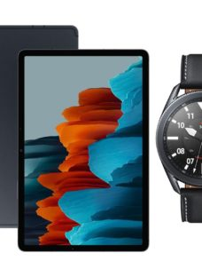 "SAMSUNG Galaxy Tab S7 11"" Tablet & Black Galaxy Watch3 Bundle"